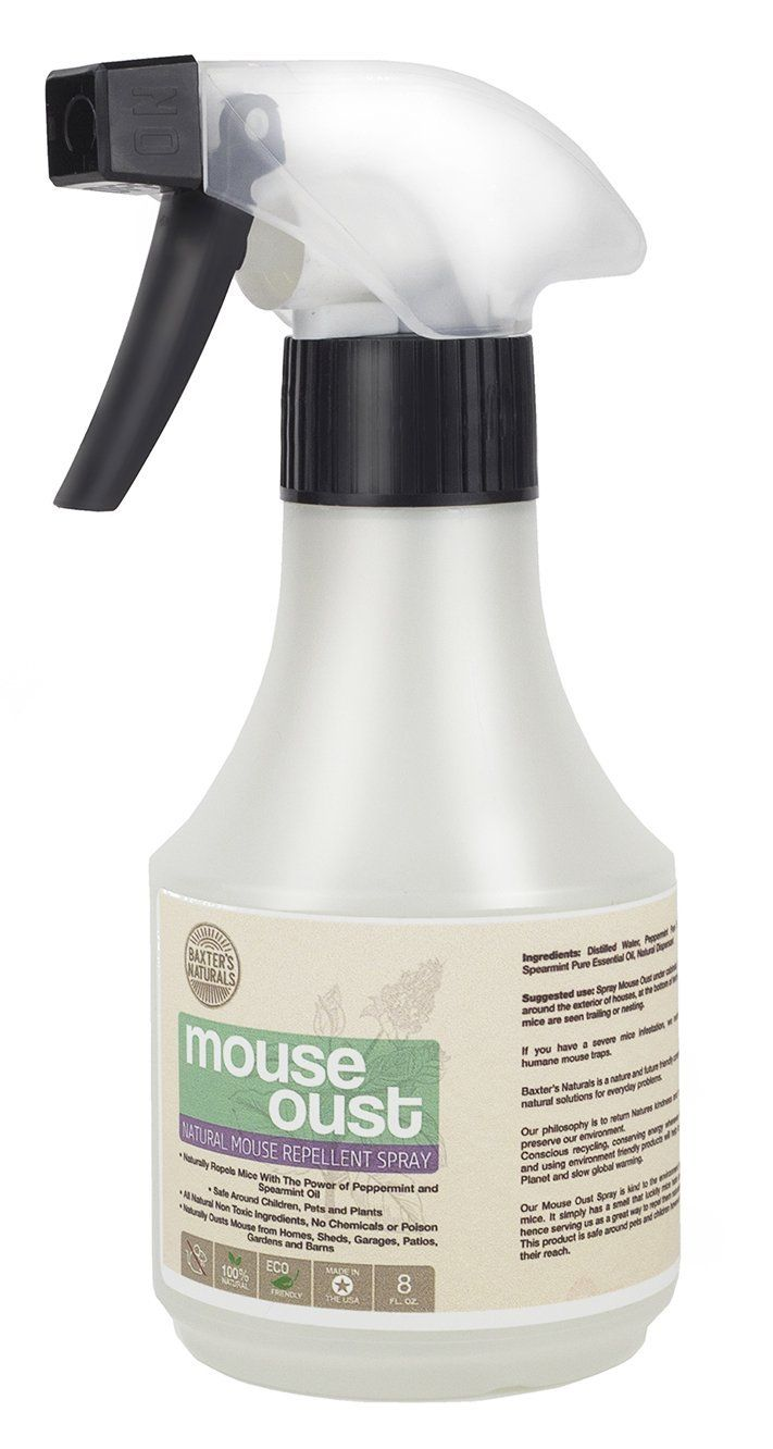 Mouse Oust - peppermint oil for mice spray