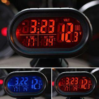 Tractari-Auto-Constanta.ro: Voltmetru digital+ceas+termometru interior+exterio...