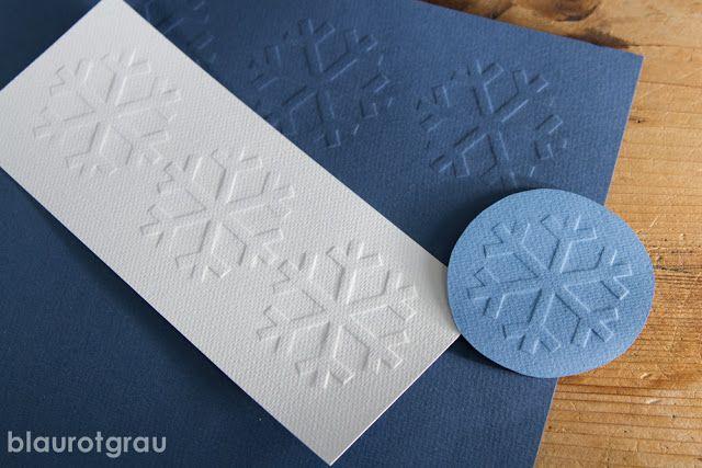 Einfache Anleitung für Prägedruck von www.blaurotgrau.blogspot.de