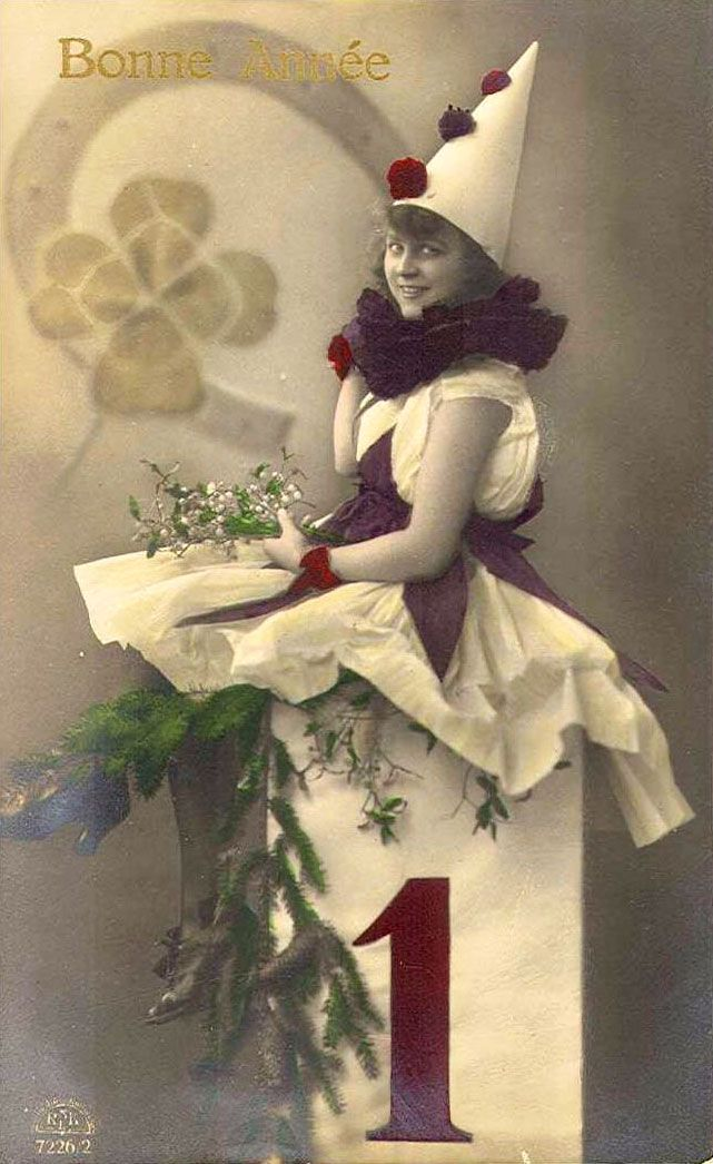 Pierrette - French New Year's card