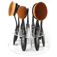 New Cosmetic Round Makeup Toothbrush Brush Type 10 PCS Display Holder Organizer