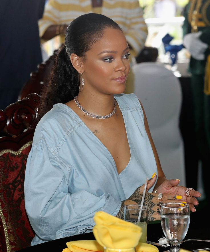 Rihanna at a Toast to the Nation Event on day 10 of an official visit to the Caribbean on November 30, 2016 in Bridgetown, Barbados.