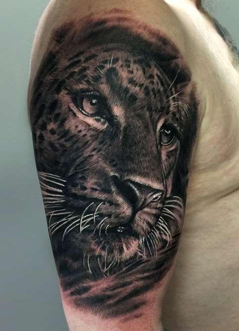 Les 25 Meilleures Id Es De La Cat Gorie Tattoo Leopard Sur Pinterest Atouage De Rose La