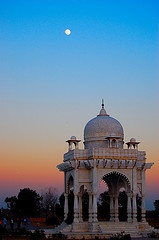 Moghul Gazebo at dusk ~ Fatimah Jinnah Park, Islamabad, Pakistan [photo by Azlan Hashim, Nepal]....