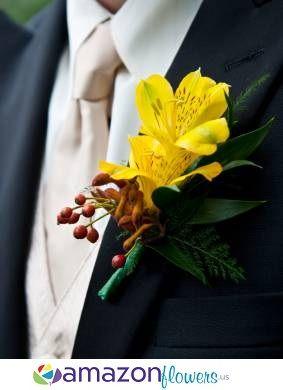 Boutonnieres, Wedding Flowers Online, Wedding Flower Arrangements, Wedding Bouquets | Amazonflowers.us