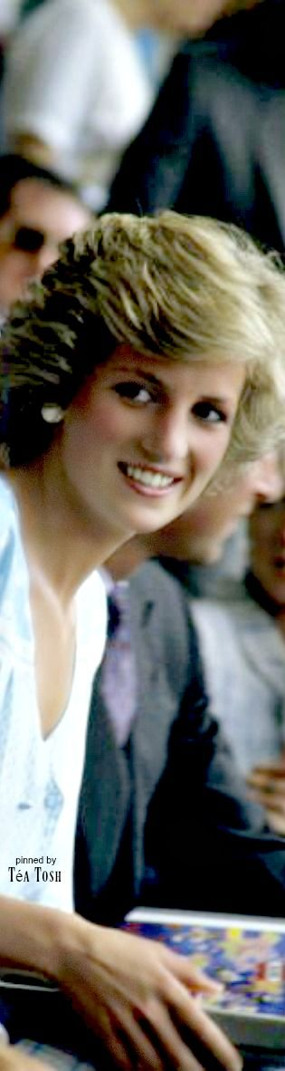❇Téa Tosh❇ Princess Diana watches from the crowd during the Live Aid concert at Wembley Stadium in London, July 13, 1985. The concert raised funds for famine relief in Ethiopia.