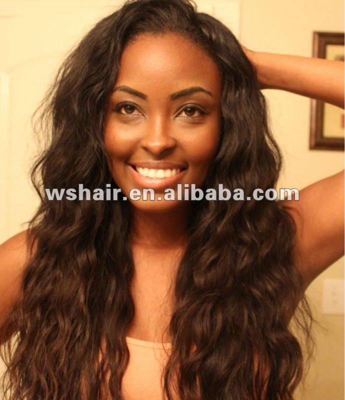 Wavy Weave on Pinterest | Straight crochet braids, Curly sew in weave ...