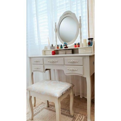 Found it at Wayfair - Cleopatra Grand de Lux Vanity Set with Mirror $389.99