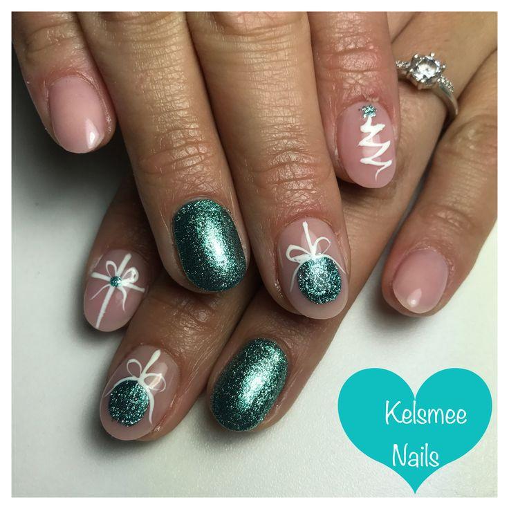 Christmas nail art for short nails idea! #nailart #unas