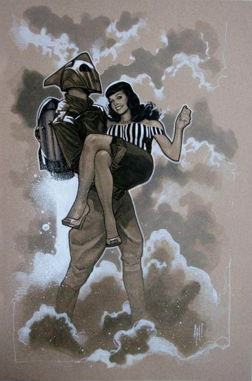 The Rocketeer & Betty - Adam Hughes