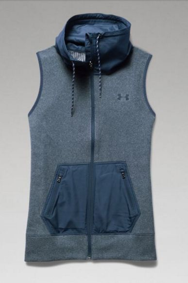 Our Under Armour ColdGear Hybrid Vest is made to absorb and retain body heat. Lightweight woven neck and pockets for enhanced durability. There's no excuse to stay inside.