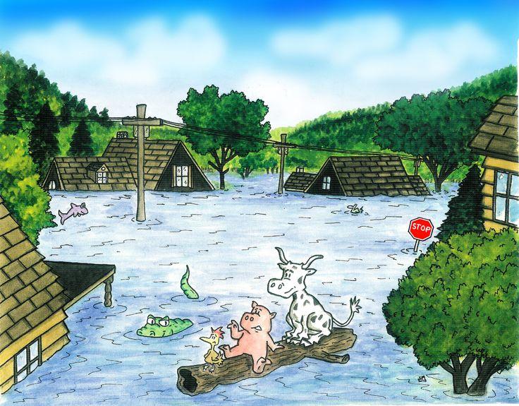 Praatplaat overstroming / FLOOD