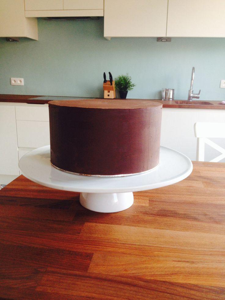 Naked ganached cake