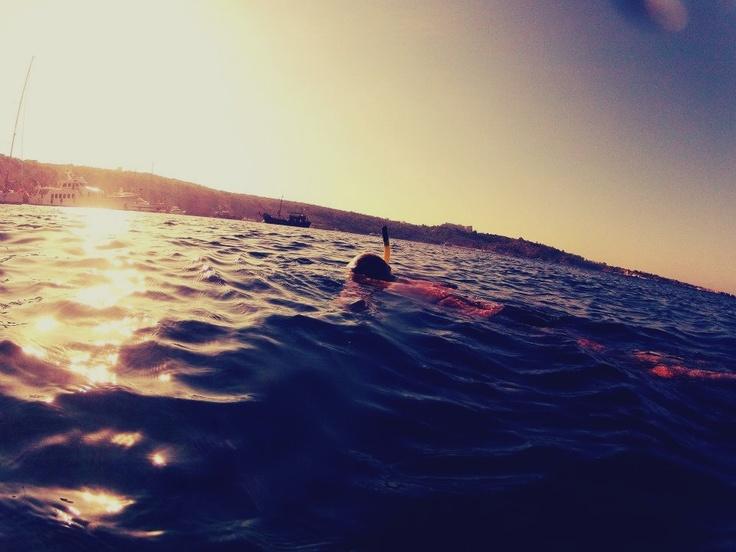 Snorkelling in Cyprus.