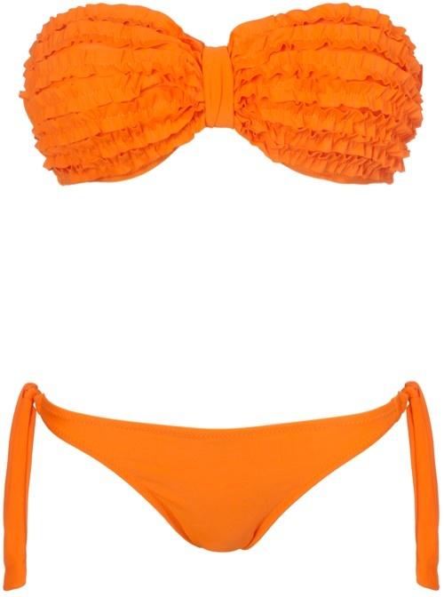 Oranje bikini van ModeMusthaves http://www.thelooksforless.nl/tijd-voor-de-bikinis/