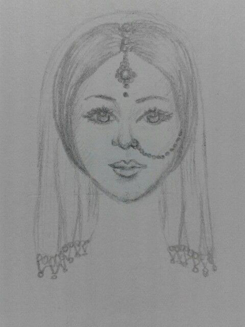 dibujo Cara etnia