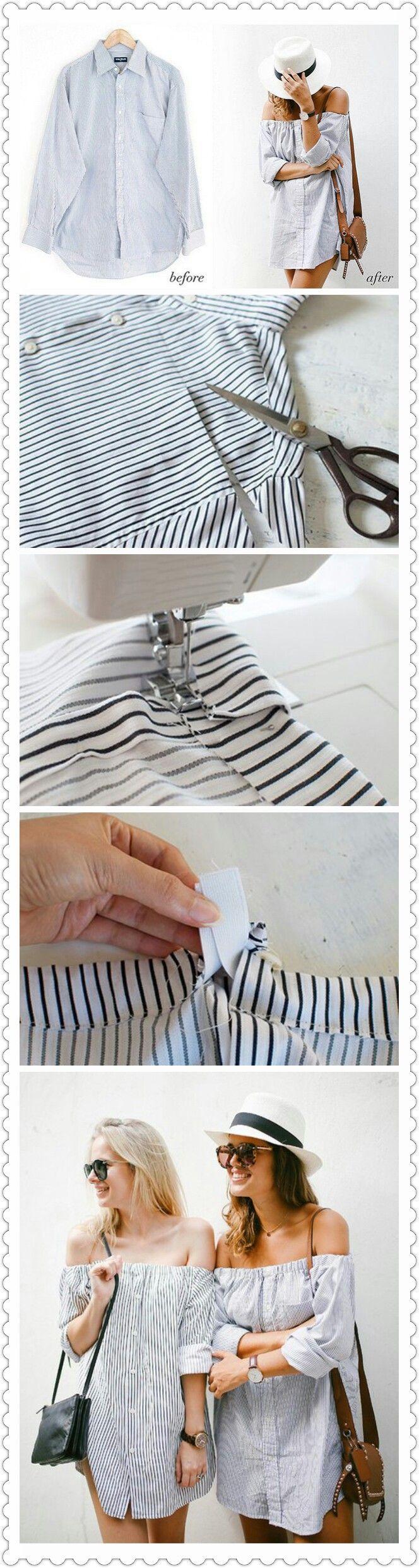 Transformar camisa en vestido