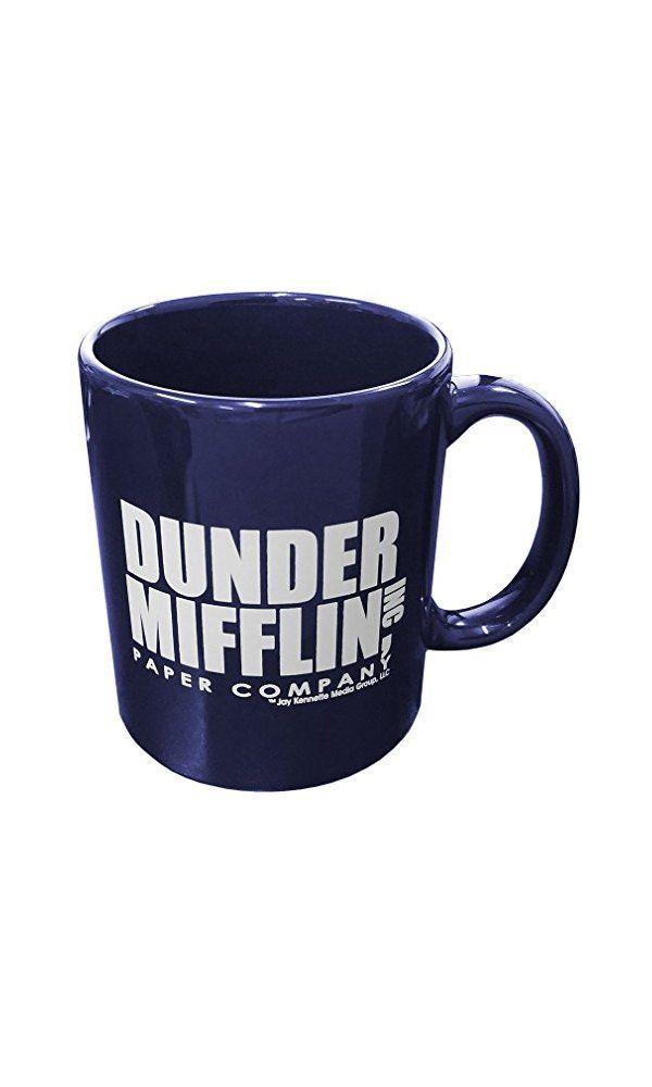 Dunder Mifflin Paper Company Office 11oz Ceramic Coffee Mug W Gift Box Navy