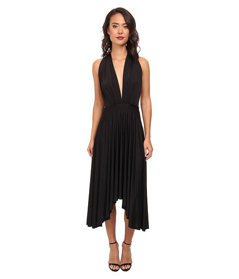 Gabriella Rocha Venus Butterfly Sleeve Dress, absolutely love the crossed front with fabric hanging down the back look - in black, size sm