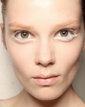 White liner & mascara.