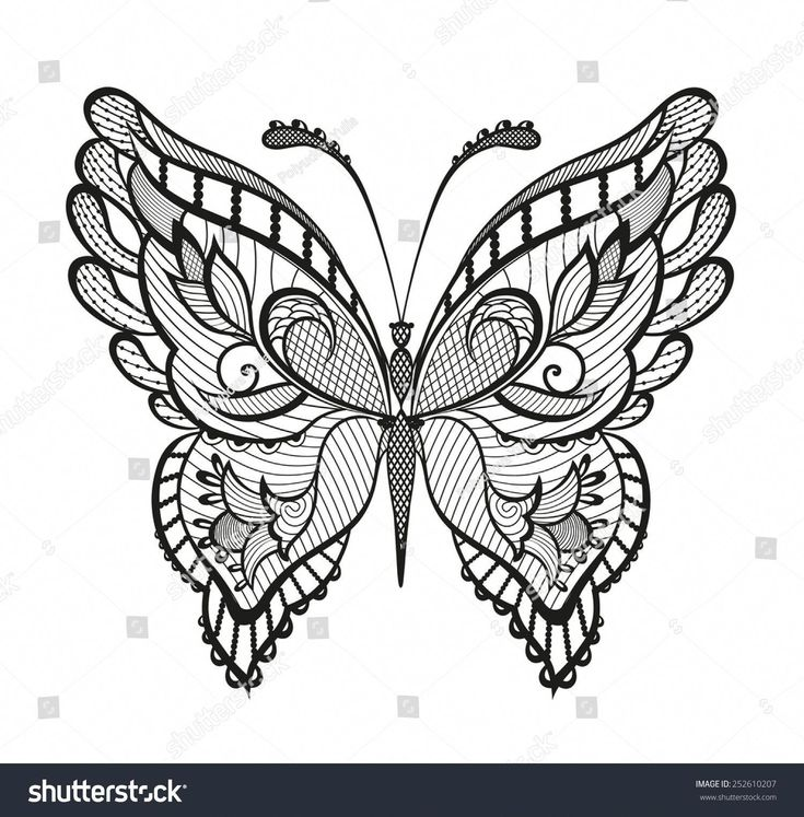 Abstract Decorative Butterfly Reminiscent Of Lace It Is