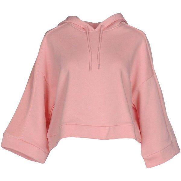 Puma Sweatshirt (345 HRK) ❤ liked on Polyvore featuring tops, hoodies, sweatshirts, pink, long sleeve tops, pink sweatshirts, long sleeve sweatshirts, puma sweatshirt and red sweatshirt