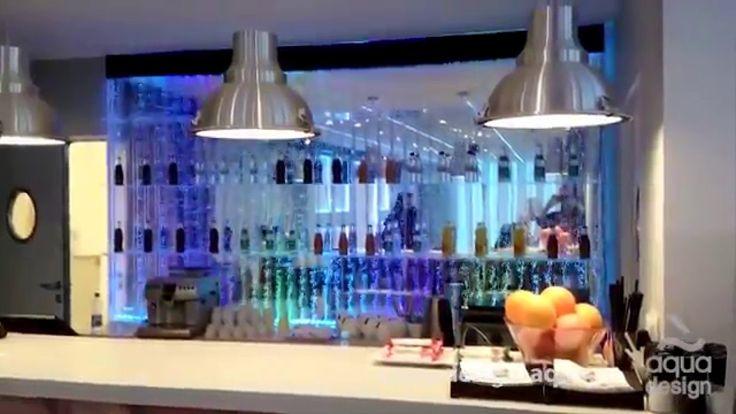 Эффектная водно световая барная конструкция Bubble Water Panel
