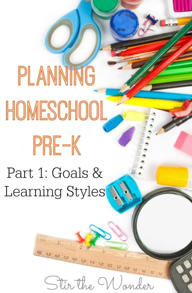 Are you starting to plan Homeschool for your Pre-K child? In this post you'll get some ideas and information on how to create goals for your preschooler and how to determine their learning style.