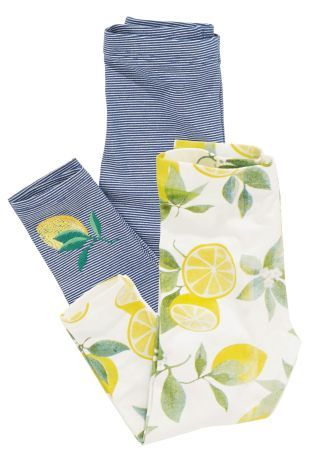 Buy Two Pack Lemon Print Leggings (3mths-6yrs) online today at Next: United States of America