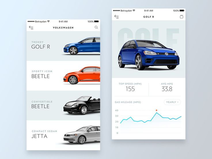 A simple app to browse the Volkswagen car range and see a few key stats on particular models.  Follow me on Twitter for design related news & updates.