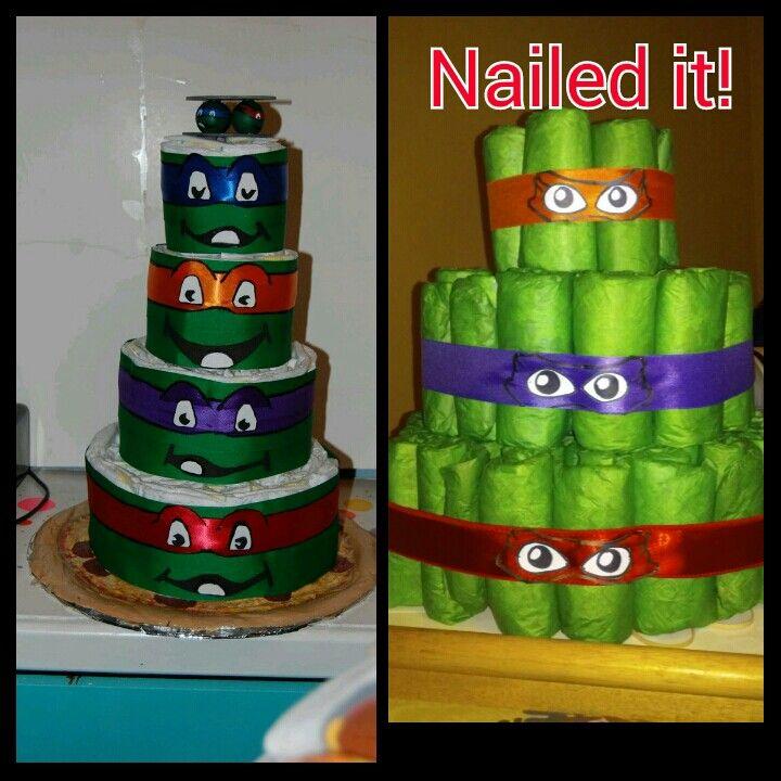 Exceptional Ninja Turtle Diaper Cake!