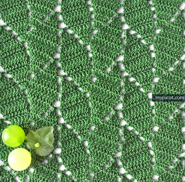 Openwork Leaf crochet pattern with wave effect. Diagram + step by step instructions.