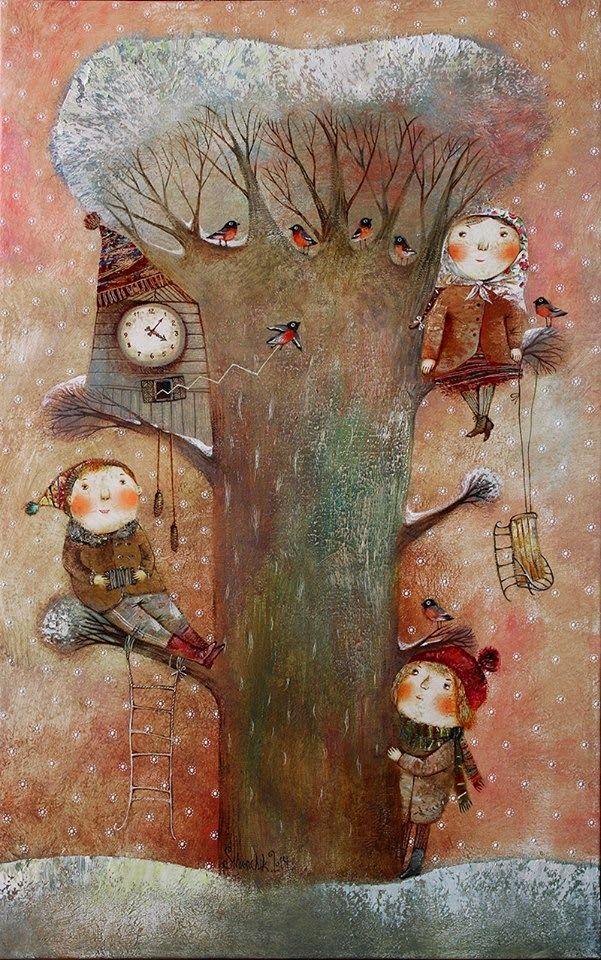 Pinzellades al món: Ìl·lustracions d'Anna Silivonchik: fred hivernal