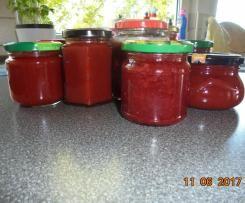 Erdbeer-Rhabarber-Holunderblüten-Marmelade