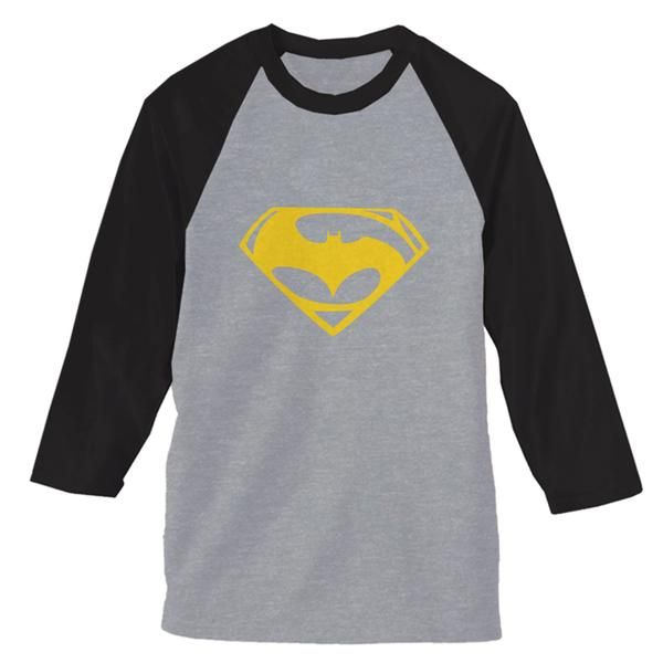 Superman and Batman Logo Yellow ¾-Sleeve Raglan * Currently uses AlStyle, TearAwayª and Gildan brand of t-shirts for our order fulfillment. We use styles AlStyle 1301, 1302, 1309, 1901, 3381, 5301, Gildan 5000L, Fruit of the Loom, and others. * Available Size : S, M, L, XL, 2XL * Available Colors : Sport Grey - Black, Sport Grey - Navy, Sport Grey - Red, White - Black, White - Navy, White - Red, White - Royal Blue #clothing #apparel #raglan #raglansleeve #teemommy #