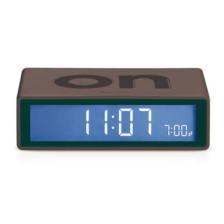 Flip Alarm Clock - Charcoal