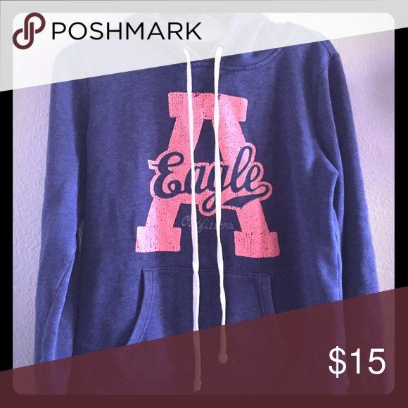 American Eagle Hoodie Comfy American Eagle Hoodie! Great condition! American Eagle Outfitters Tops Sweatshirts & Hoodies