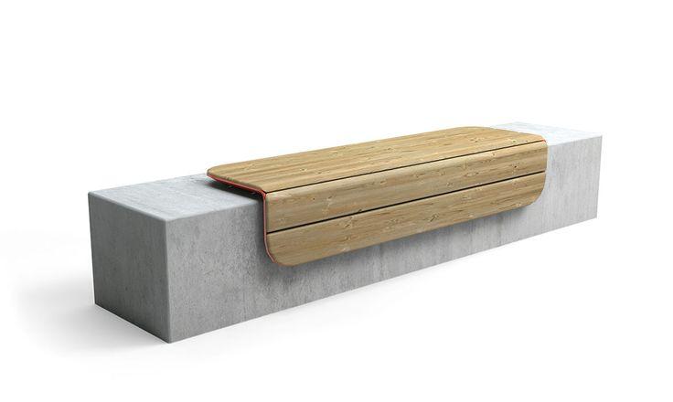 Utebenken Corner er benken som bretter seg rundt hjørner. Det varme treverket gir god sittekomfort. Passer perfekt til murkanter.