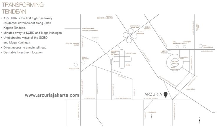 Arzuria Apartment Jakarta Map Location.