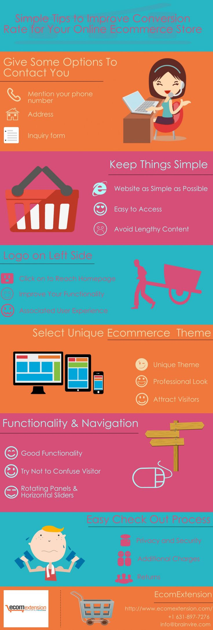 Simple Tips to Improve Conversion Rate for Your Online Ecommerce Store #Infographic