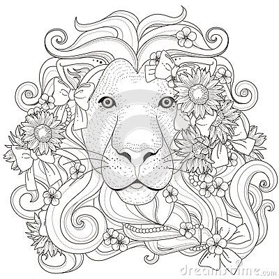 Image result for lion coloring pages for adults