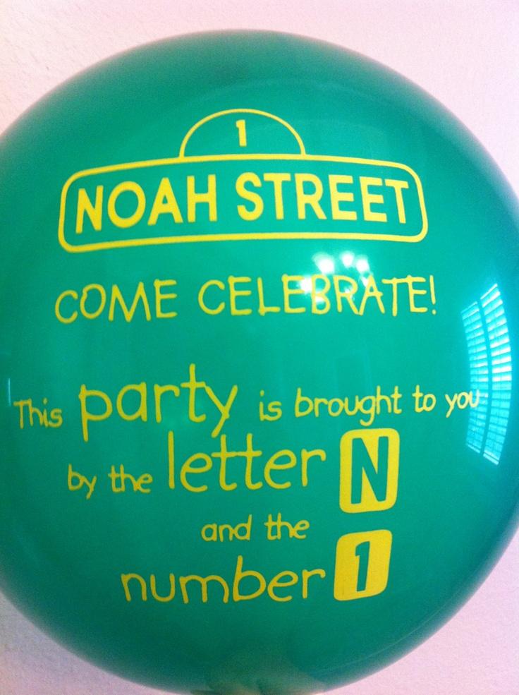 Sesame Street Balloon