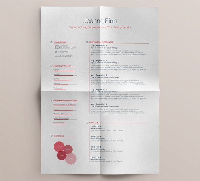25+ unique Free printable resume ideas on Pinterest Resume - printable resume format