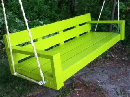 My Big Green Modern Porch Swing | Do It Yourself Home Projects from Ana White