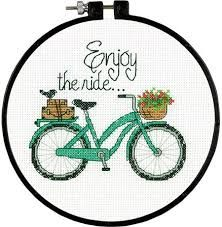 Image result for cross stitch bicycle