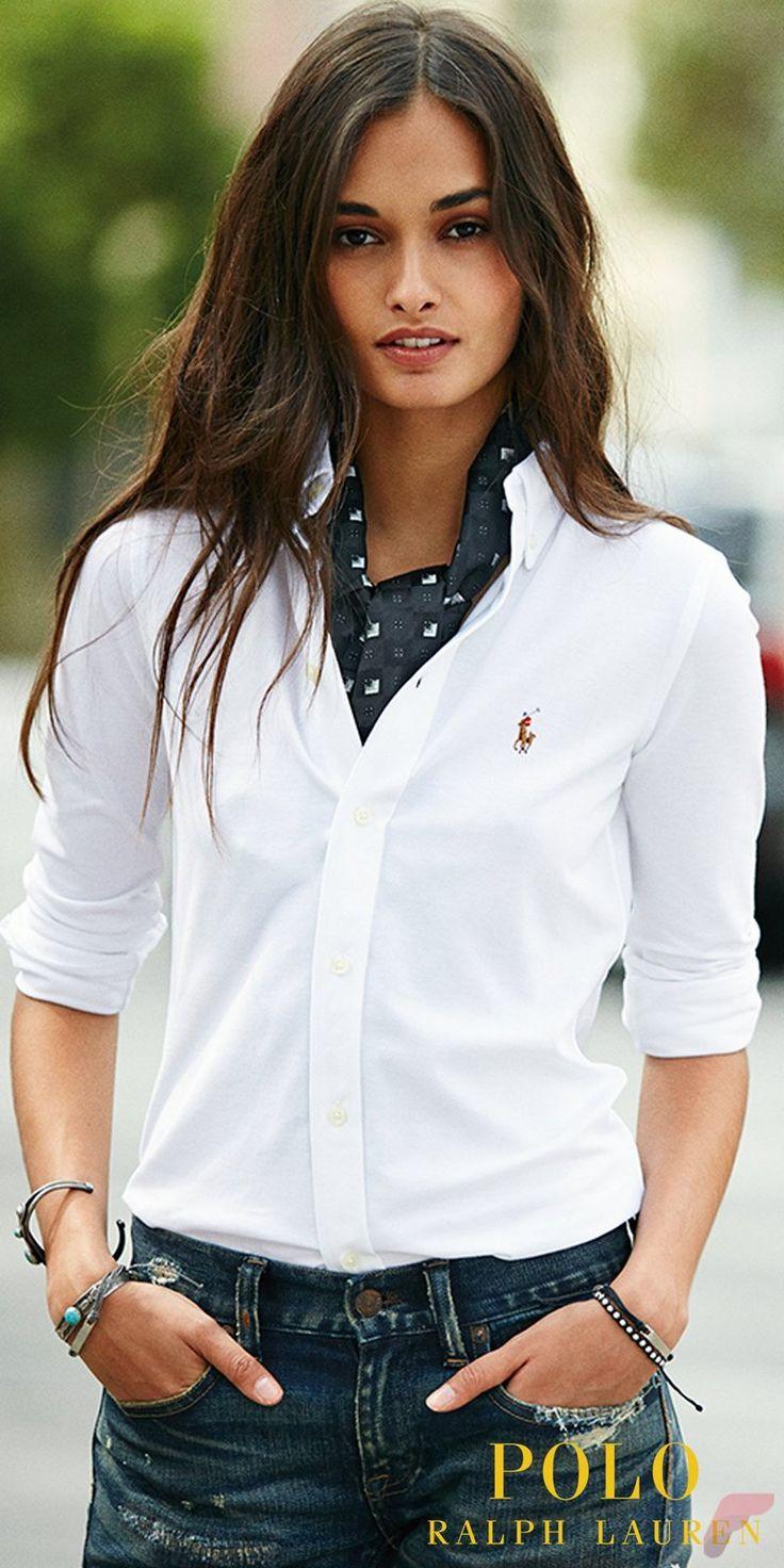 Frauen tun Müssen, Mit Weißem Hemd für die Arbeit Stile