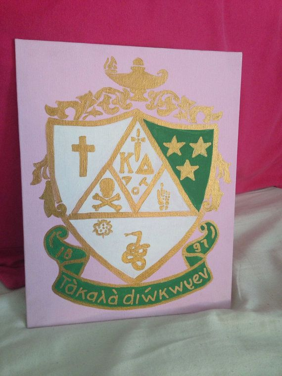 Kappa Delta Crest Canvas by CanvasesByKara on Etsy