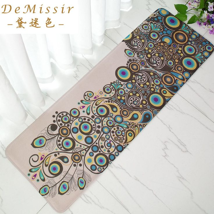 Find More Mat Information about Peacock Printing Rectangle Doormat 40x120cm alfombras dormitorio Carpet Deurmat Dier Door kitchen rugs mats tapis chambre,High Quality rugged black,China mat tent Suppliers, Cheap mat picnic from Top Qulity Human Hair Factory on Aliexpress.com