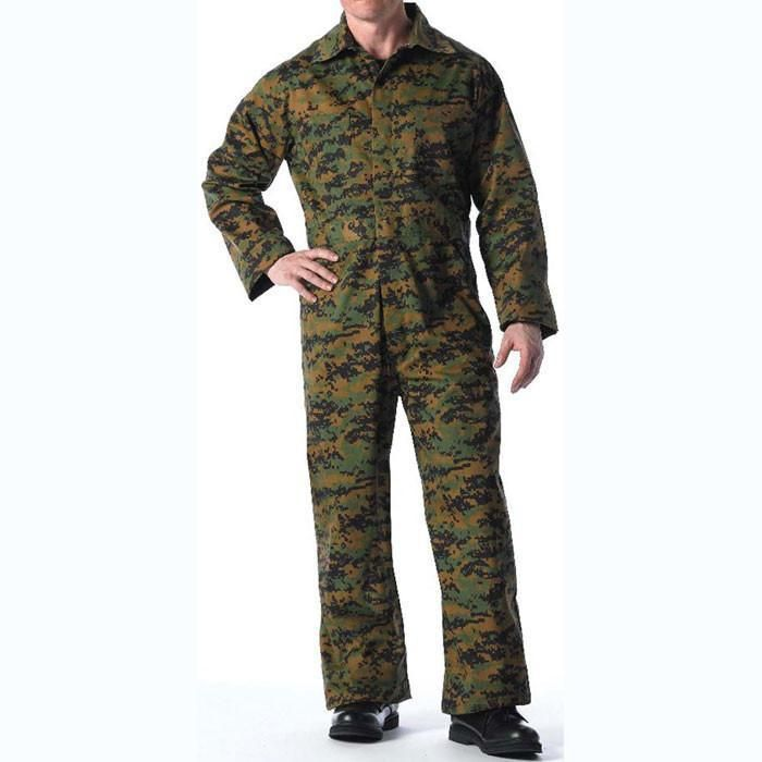 Digital Woodland Camo Military Coveralls 6 Pocket Unlined Army Tactical  Jumpsuit  Rothco 64fd460e840