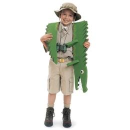 Crocodile wrestler costume DIY